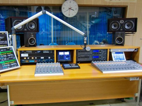 DHD.audioミキサー導入事例 茨城放送様 サブスタジオ