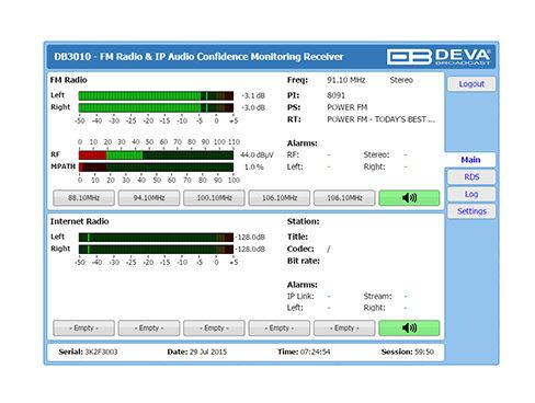 DB3010 FM/IP リファレンスモニタ