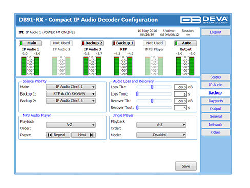 DB91-RX/IP音声デコーダー (コンパクトタイプ)
