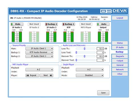 DB91-RX/IP音声デコーダー (コンパクトタイプ)の画像