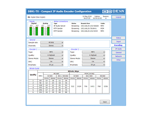DB91-TX/IP音声エンコーダー (コンパクトタイプ)の画像
