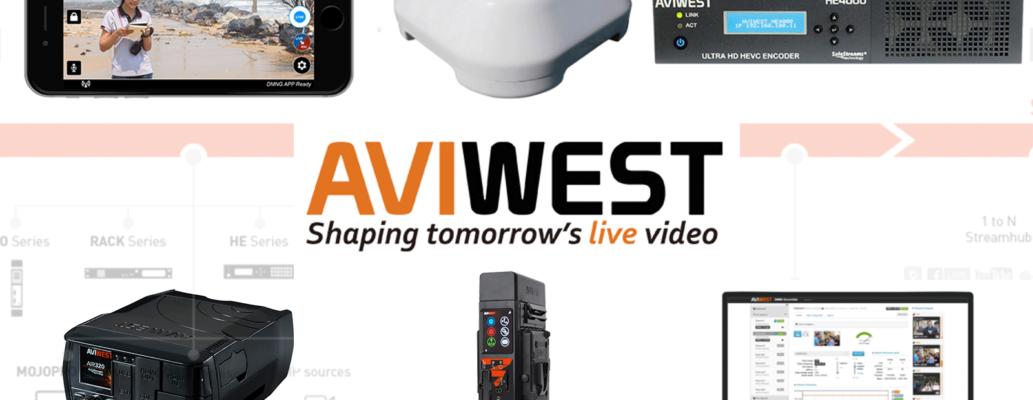 AVIWEST社の中継システム機器