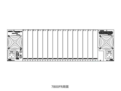 7800FR, 7800FR-QT, 7800FR-48VDC, 7801FR マルチフレーム