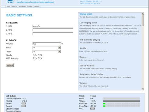 PS-AMP / スピーカー出力付き IPオーディオレシーバー