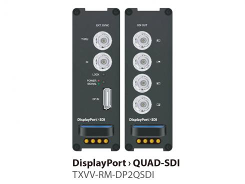 DisplayPort to Quad SDI コンバーター TXVV-RM-DP2QSDI