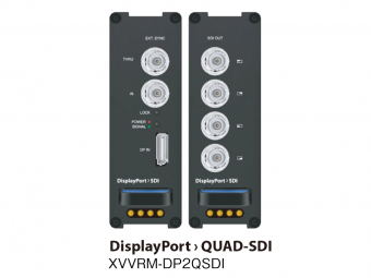 DisplayPort to Quad SDI コンバーター XVVRM-DP2QSDIの画像