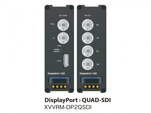 DisplayPort to Quad SDI コンバーター XVVRM-DP2QSDI