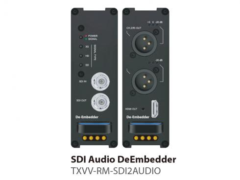 SDIディエンベデッダー TXVV-RM-SDI2AUDIO