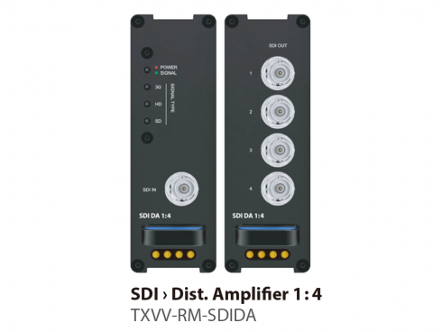 SDIディストリビューションアンプ1:4 TXVV-RM-SDIDA