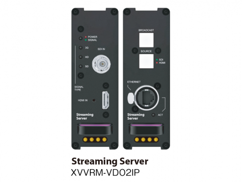 ストリーミングサーバー XVVRM-VDC2IP