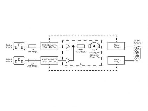 RB-MSP6 RB-MS4X3用ファンタム電源