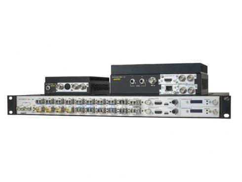 放送用信号(SDIやAES等)をIP化するゲートウェイ