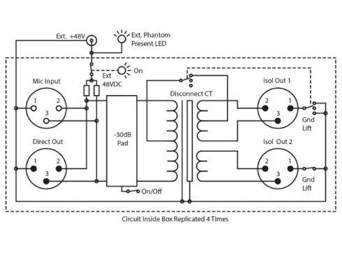 RB-MS4X3 / マイクロホンパッシブ分配器