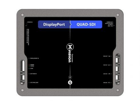 DisplayPort to Quad SDIコンバーター XVVDP2QSDI