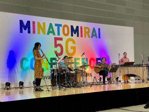 5GでIP CODECを使った遠隔音楽セッション -ドコモ主催展示会で使用-